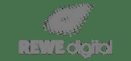 Logo von Rewe Digital als Beispielkunde bzw. Referenz