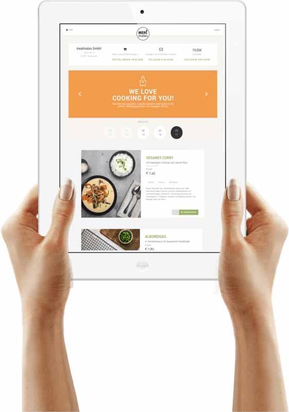 Essen liefern lassen - Veranschaulichung des mobilen Bestellsystems