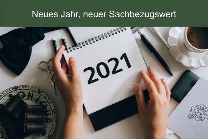 Der Sachbezugswert hat sich im Jahr 2021 verändert. Er ist auf 3,47 angestiegen.